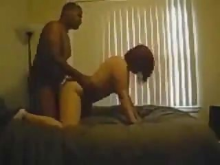 White wife goes nuts for some chocolate cock!