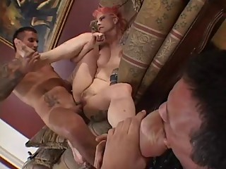 Dominant wife in cuckold cocksucking