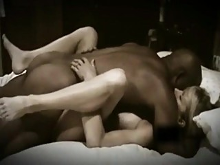 Cuckold wife has passionate sex with black man