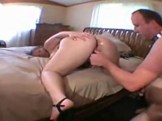 Wife fucked by lover and hubby cleans the cum