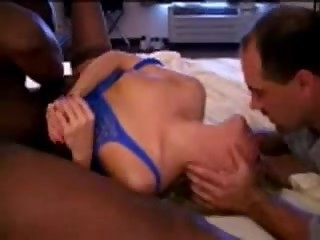 Black cock cums inside his hot wife
