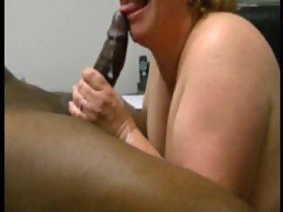 Milks her first bbc in her mouth