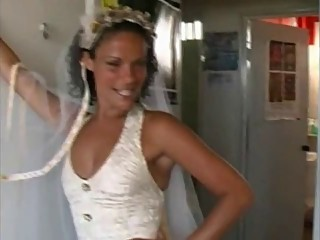 Bride Sharing with Brazilian Guys in Honeymoon